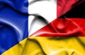 Waving flag of Germany and France — Foto Stock