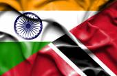 Machać flaga Trynidadu i Tobago i Indie — Zdjęcie stockowe