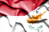 Waving flag of Cyprus and Indonesia — Stock Photo