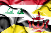 Bandera de Brunei y de Iraq — Foto de Stock