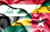 Bandeira do Togo e Iraque — Fotografia Stock