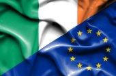 Bandeira da União Europeia e da Irlanda — Fotografia Stock