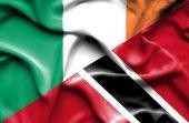 Agitant le drapeau de Trinité-et-Tobago et en Irlande — Photo