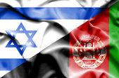 Sventolando la bandiera dell'Afghanistan e Israele — Foto Stock