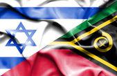 瓦努阿图和以色列那飘扬的旗帜 — 图库照片