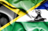 Bandeira de Lesoto e Jamaica — Fotografia Stock