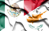 Waving flag of Cyprus and Mexico — Stock Photo