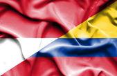 コロンビア ・ モナコの旗を振っています。 — ストック写真