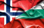 Bandeira da Bulgária e da Noruega — Fotografia Stock