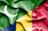 Waving flag of Chad and Pakistan — Stock Photo