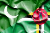 Waving flag of Dominica and Pakistan — Stock Photo
