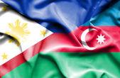 Bandeira de azerbajan e Filipinas — Fotografia Stock