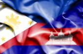 Waving Flag von Kambodscha und den Philippinen — Stockfoto