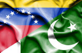 Waving flag of Pakistan and Venezuela — Stock Photo