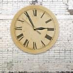 Retro clock on brick wall — Stock Photo #53623017