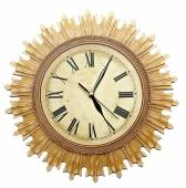 Old Clock Isolated on white . old vintage clock face  — Stock Photo