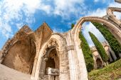 Archs at Bellapais Abbey. Kyrenia. Cyprus — Stock Photo
