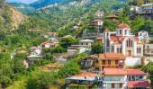 Panoramic view of the village Moutoullas. Nicosia district. Cypr — Stock Photo