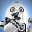 Robot with a squared camera. Contains clipping path — Stock Photo #55484281