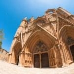 Lala Mustafa Pasha Mosque formerly St. Nicholas Cathedral. Famagusta, Cyprus — Stock Photo #57131547