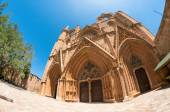 Lala Mustafa Pasha Mosque formerly St. Nicholas Cathedral. Famagusta, Cyprus — Stock Photo