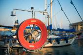 Old fishing boats in Limassol harbour. Cyprus — Stock Photo