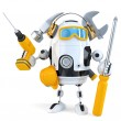 Robot - industrial worker concept. Isolated. Contains clipping path — Stock Photo #68222199