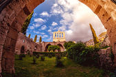 Bellapais Abbey, front view. Kyrenia, Cyprus — Stock Photo