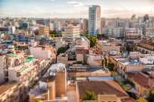 Southern part of Nicosia, aerial view with tilt-shif effect. Cyprus — Stock Photo