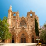 St. Nicholas Cathedral (Lala Mustafa Mosque), Famagusta, Cyprus. — Stock Photo #74196511
