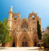 St. Nicholas Cathedral (Lala Mustafa Mosque), Famagusta, Cyprus. — Stock Photo