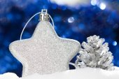 Silver christmas decoration — Stock Photo