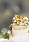 圣诞礼物盒与背景 — 图库照片