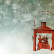 Christmas background with red lantern — Stock Photo #58158147