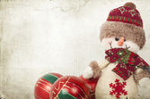 Christmas decorations with snowman — Stock Photo