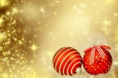 Christmas decorations and holiday lights — Stock Photo