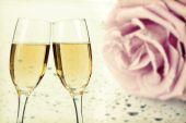 Feiern mit Champagner — Stockfoto