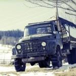 Old rusty farm truck — Stock Photo #65210507