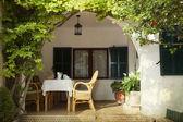 Open sunny terrace — Stock Photo