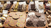 Gourmet assorted truffles in the market — Stock Photo