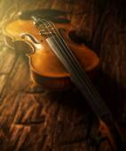 Violin in vintage style — Stock Photo