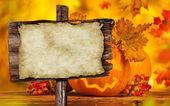 Scary jack o lantern halloween background — Stock fotografie
