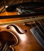 Violin in vintage style — Stock Photo