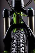 Close-up of a mountain bike spring fork — Stock Photo