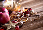 Tradition Christmas decorations background — Foto Stock