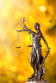 Themis in spotlight, law concept. — 图库照片