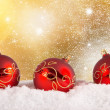 Chrsitmas red balls background — Stock Photo #55850471