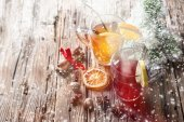 Christmas mull and punch — Stock Photo