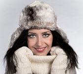 Mladá žena zimní portrét — Stock fotografie