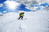 高山のスキーヤー — ストック写真
